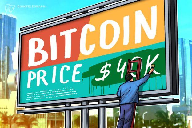 Bitcoin mencoba menembus $40K untuk kedua kalinya dalam beberapa hari