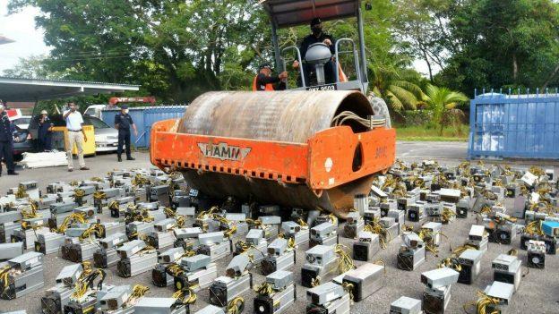 Tindakan keras Crypto: mesin bitcoin steamroll polisi Malaysia